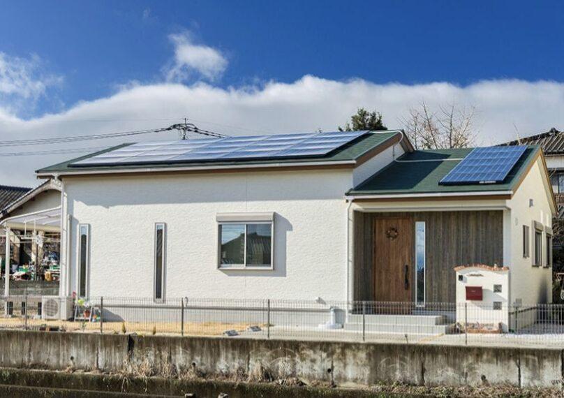 太陽光発電の家外観画像